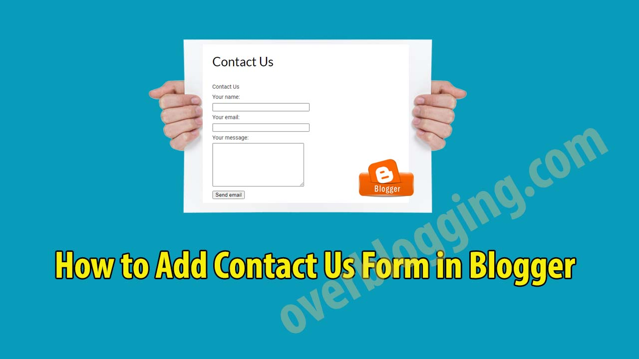 contact us form blogger