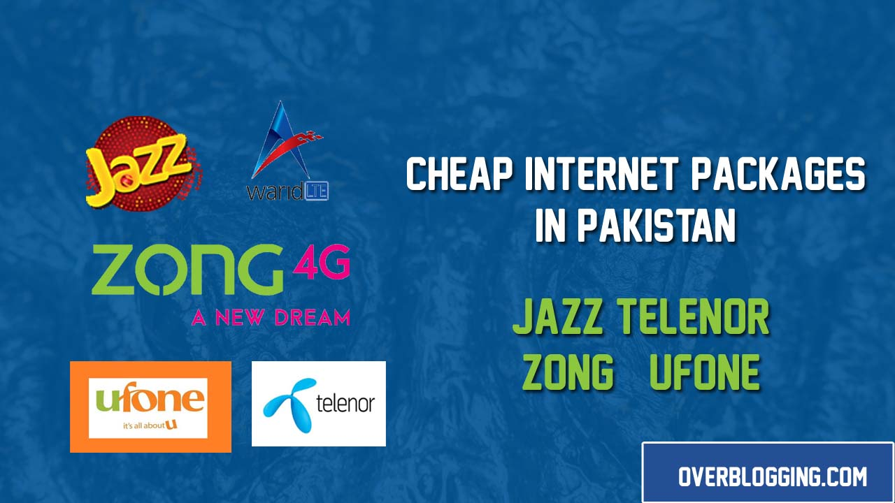 Best & Cheap Internet Packages in Pakistan of Mobile Networks