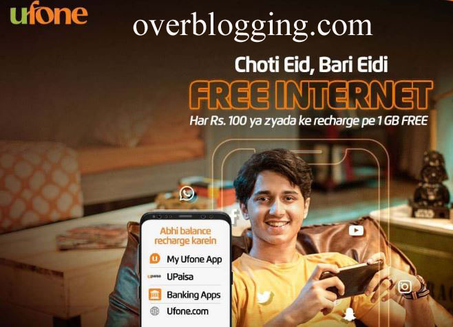 Ufone EID Offer 2021 Free 1GB Data on Mobile Top-ups copy